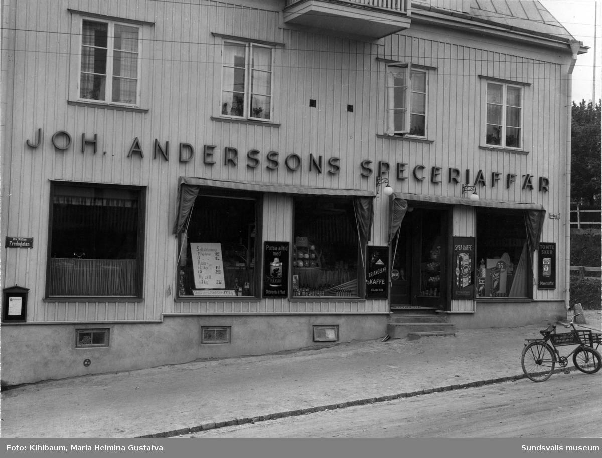 Johan Anderssons speceriaffär på Fredsgatan 17, Södermalm.