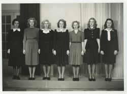 Luciakandidater omkring 1945.