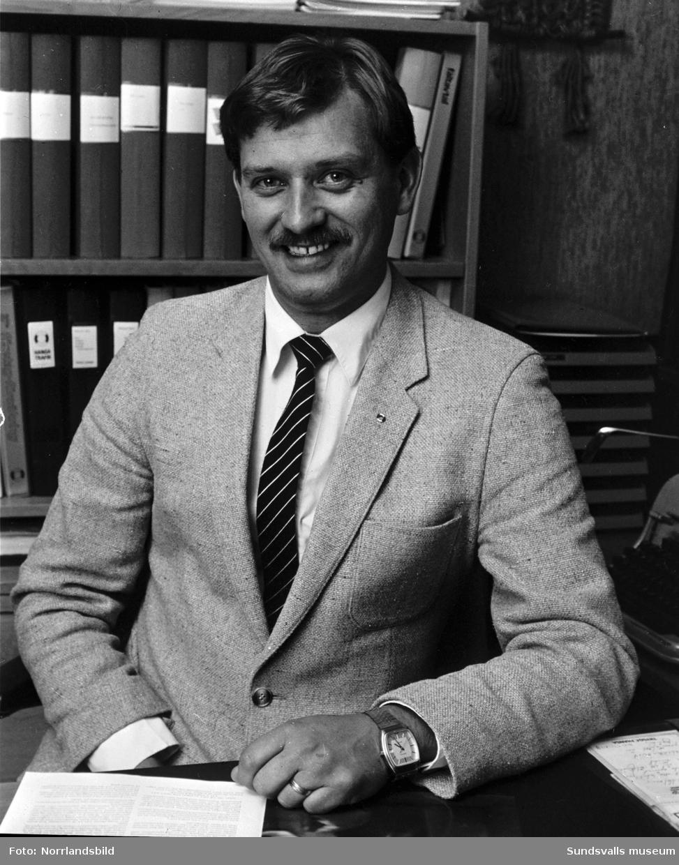 Personalporträtt Trygg Hansa 1984. 1: Alf Persson. 2: Ulrik Jansson. 3: Christer Högberg.