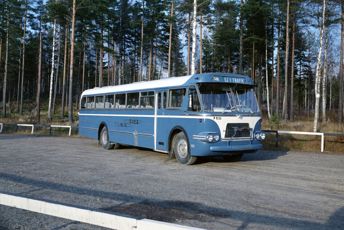 Bild tagen på uppdrag av Arvika karosserifabrik hösten 1963.