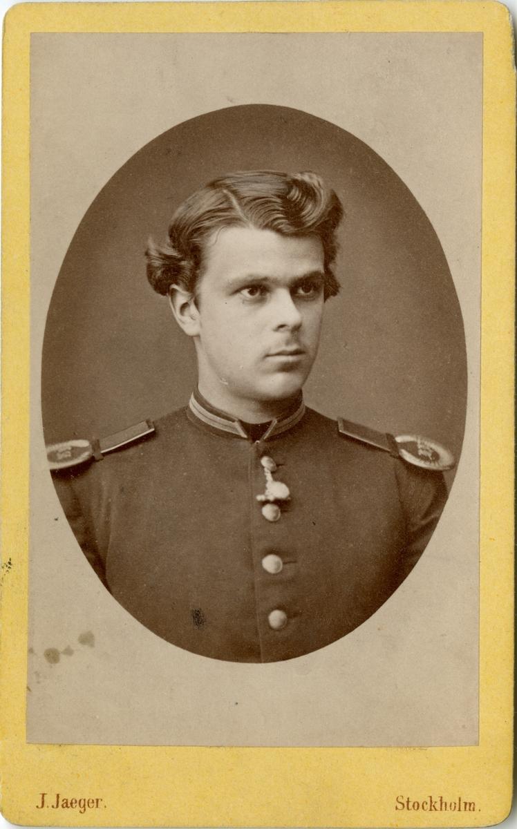 Porträtt av Gustaf Malte Ramel, underlöjtnant vid Skånska husarregementet K 5.