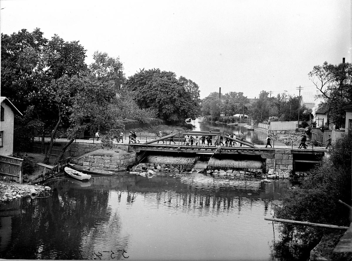 Dammbron 1890-tal Fotografi: C.Billberg