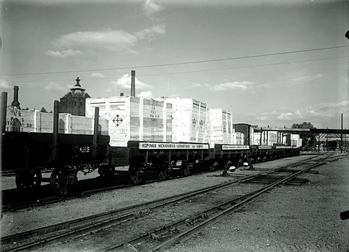 Järnvägstransport från KMV 1933. Fotograf E Sörman.