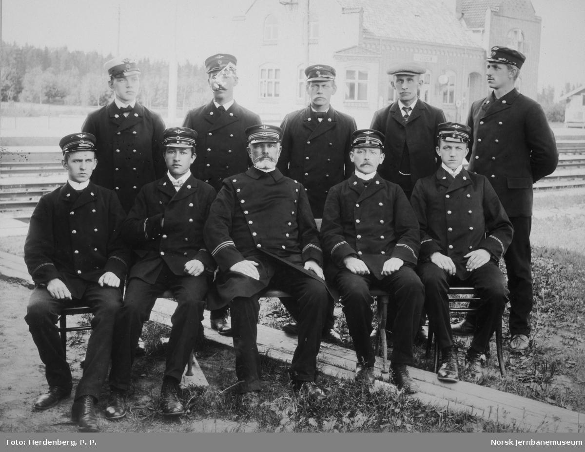 Personalet ved Jessheim stasjon