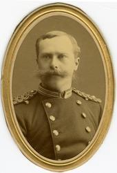 Porträtt av Fredrik Emil Pettersson, underlöjtnant vid Bohus