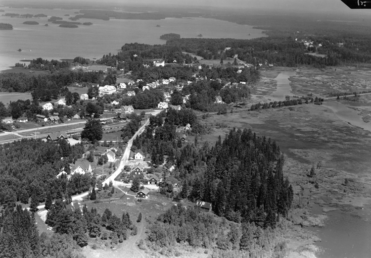 Bildtext: Samhälle. Diö.FlygfotosamlingenD 1951