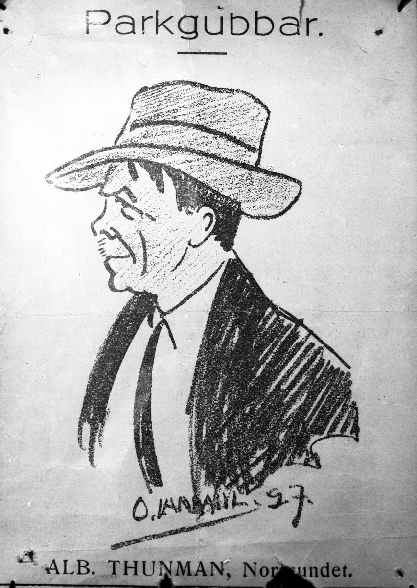 Teckning, Albert Thunman, Norrsundet.
