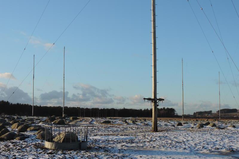 Master og antenner. Skjæveland, Rogaland radio mottakerstasjon, 2016