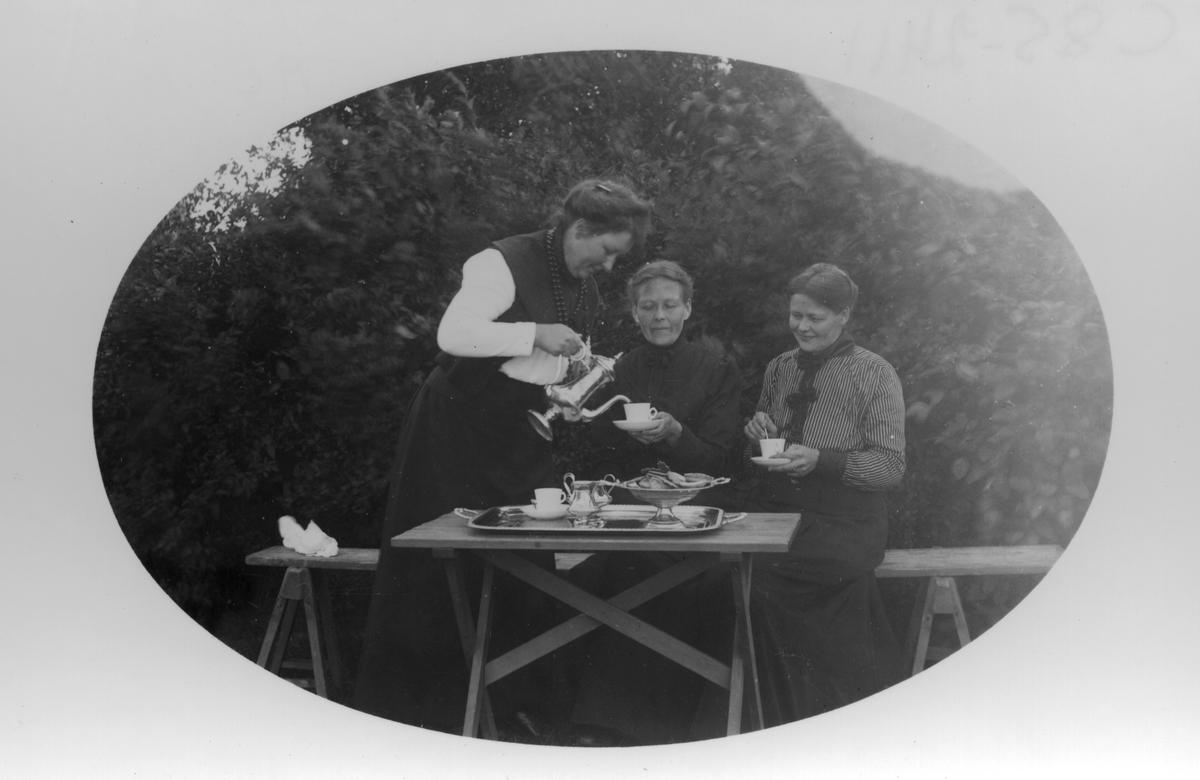 Kvinnan längst till höger är Olles-Sara i Vik.
