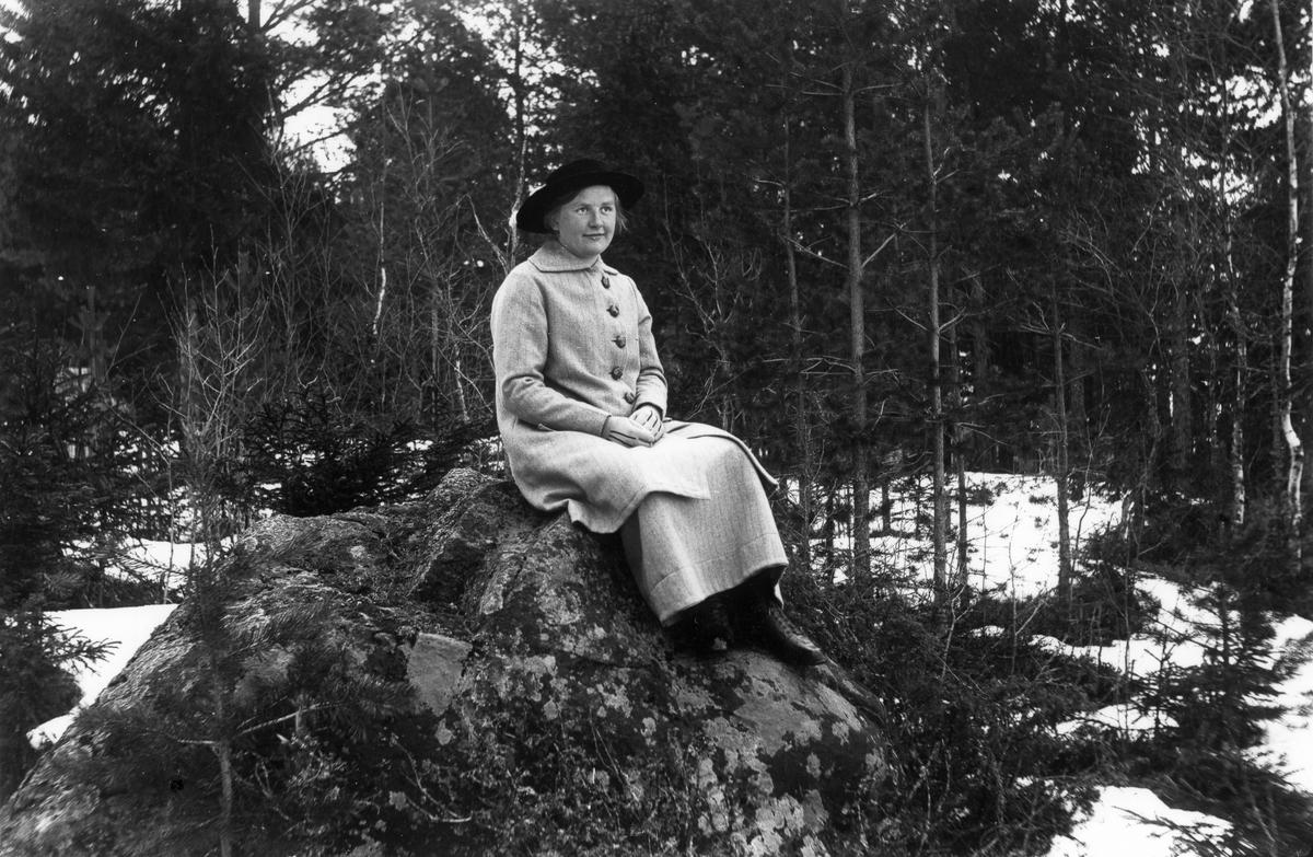 Smehammar-Linnéa (Larsson), gift Styf, omkring 1920.