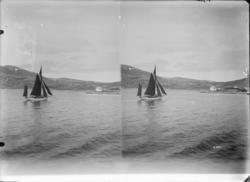 st. Moderne Nordlands Fiskerbaad ved Hammerfest