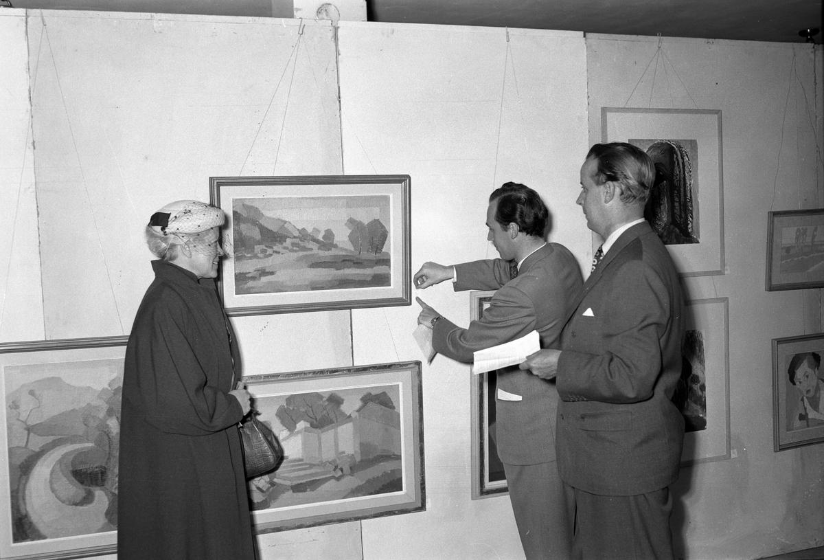 Konstutställning i Folkets Hus. 25 september 1953.