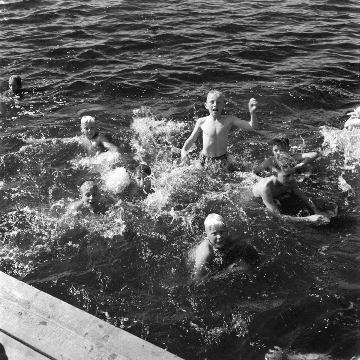 KFUM:s sommarhem, Kvistrum, Aludden 31. år 1949. Kristliga Föreningen av Unga Män. Föreningen bildades i Sverige 1884. Reportage för Gefle Dagblad.