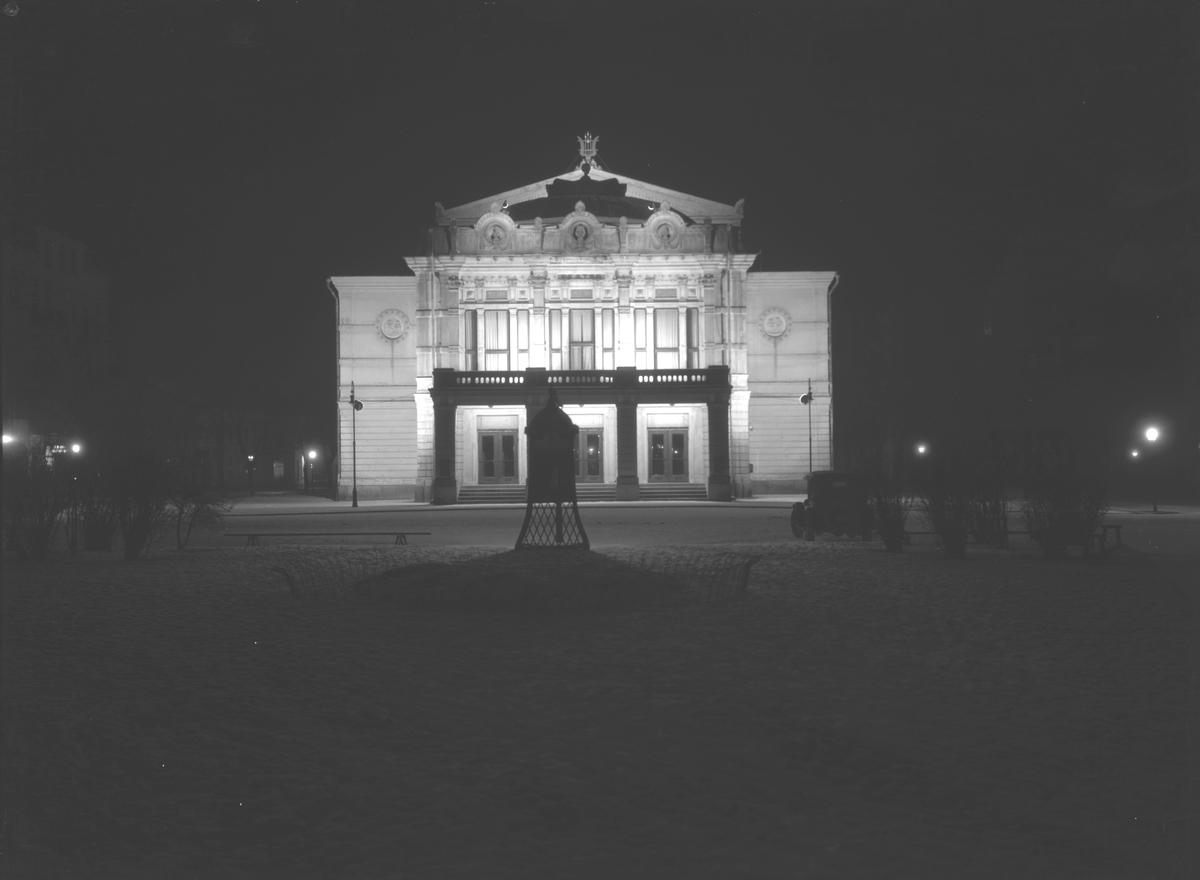 Fasadbelysning på Gävle Teater