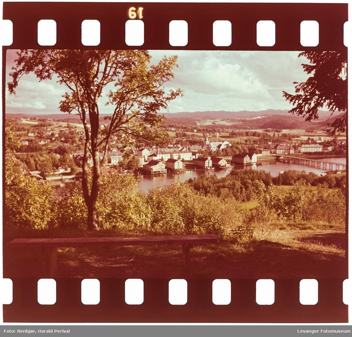 Utsikt over Levanger fra Nesset.