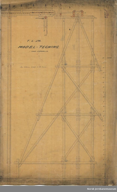 T.S.Jne. Størenbanen Model-Tegning i sand Størrelse