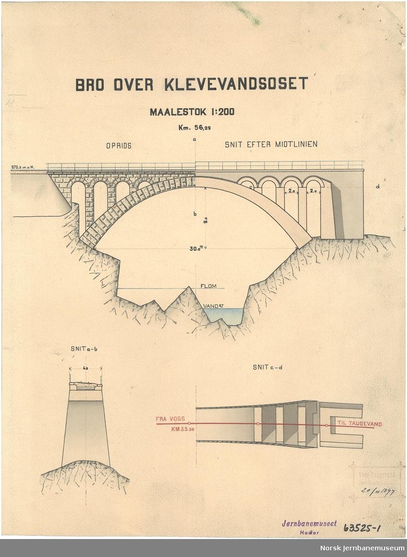 Bro over Klevevandsoset Voss-Taugevatn Jernbaneanlæg