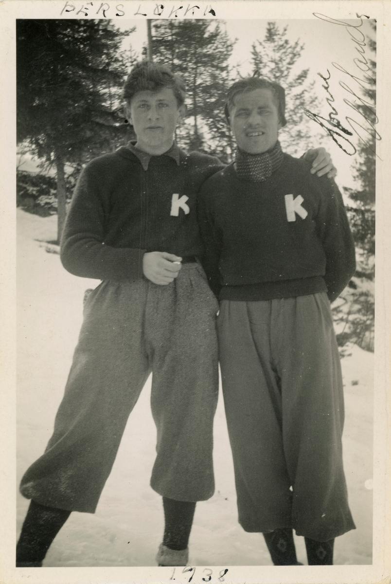 Two Kongsberg-skiers