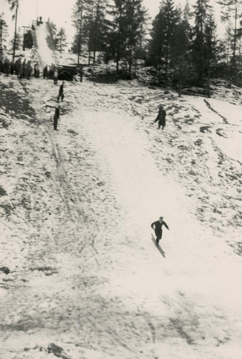 Ski jumping training at Persløkka