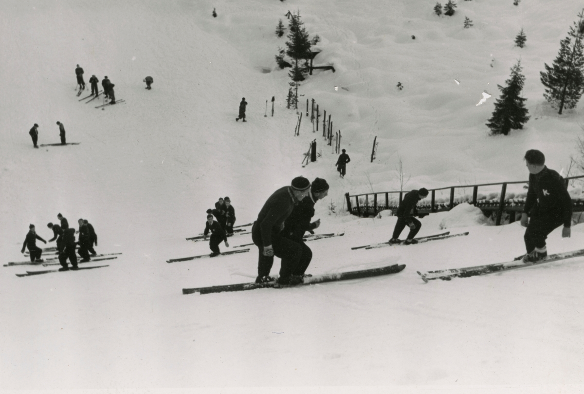 Preparations at ski jump