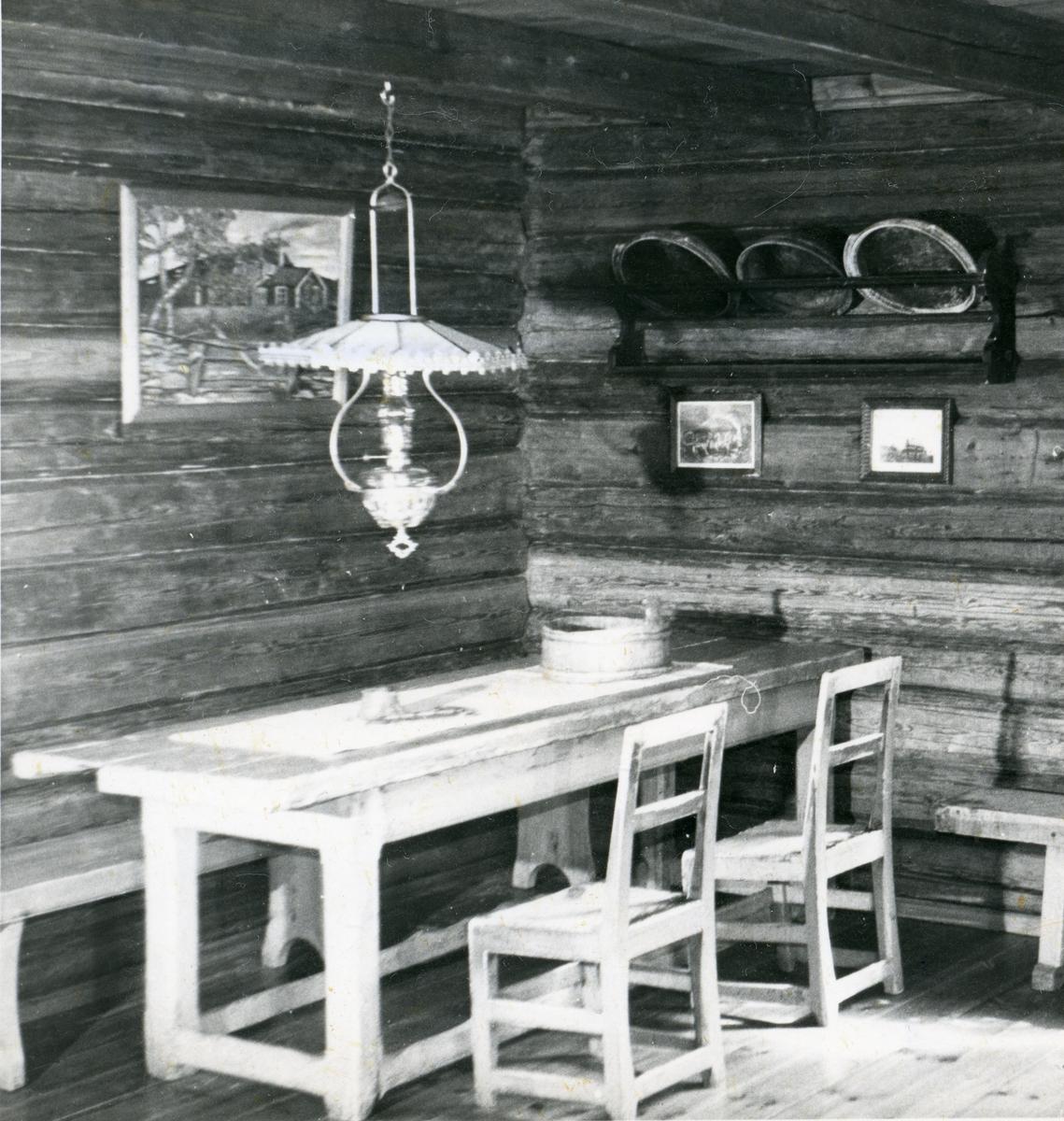 Interiør fra Stabelbygningen. Bagn Bygdesamling, Sør-Aurdal.
