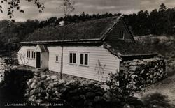Postkort, Lendestovå fra Time på Jæren. Rogalandstunet, NF.