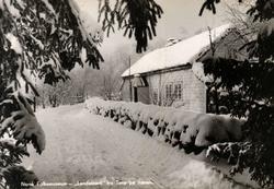 Postkort. Lendestovå fra Time på Jæren i vinterskrud.  Roga