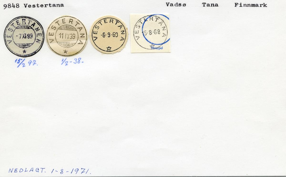 9848 Vestertana (Vestertanen), Vadsø, Tana, Finnmark