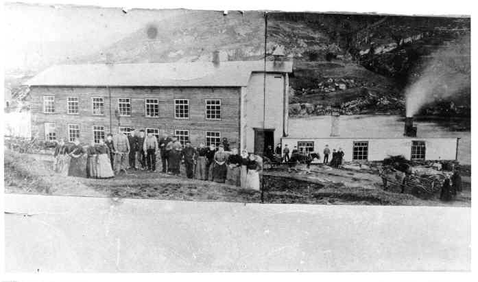 Spinneriet på Stranden. Ca.1895.