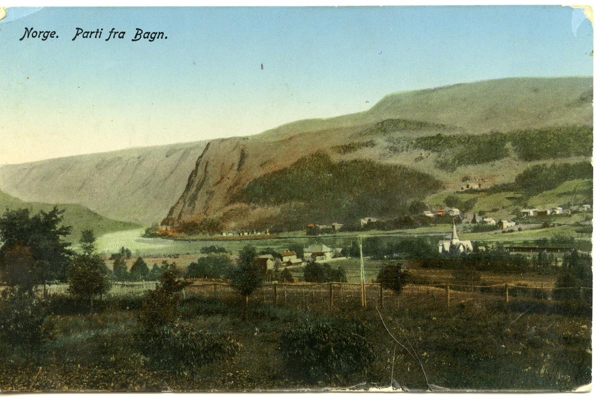 Postkort med motiv fra Bagn, Sør-Aurdal