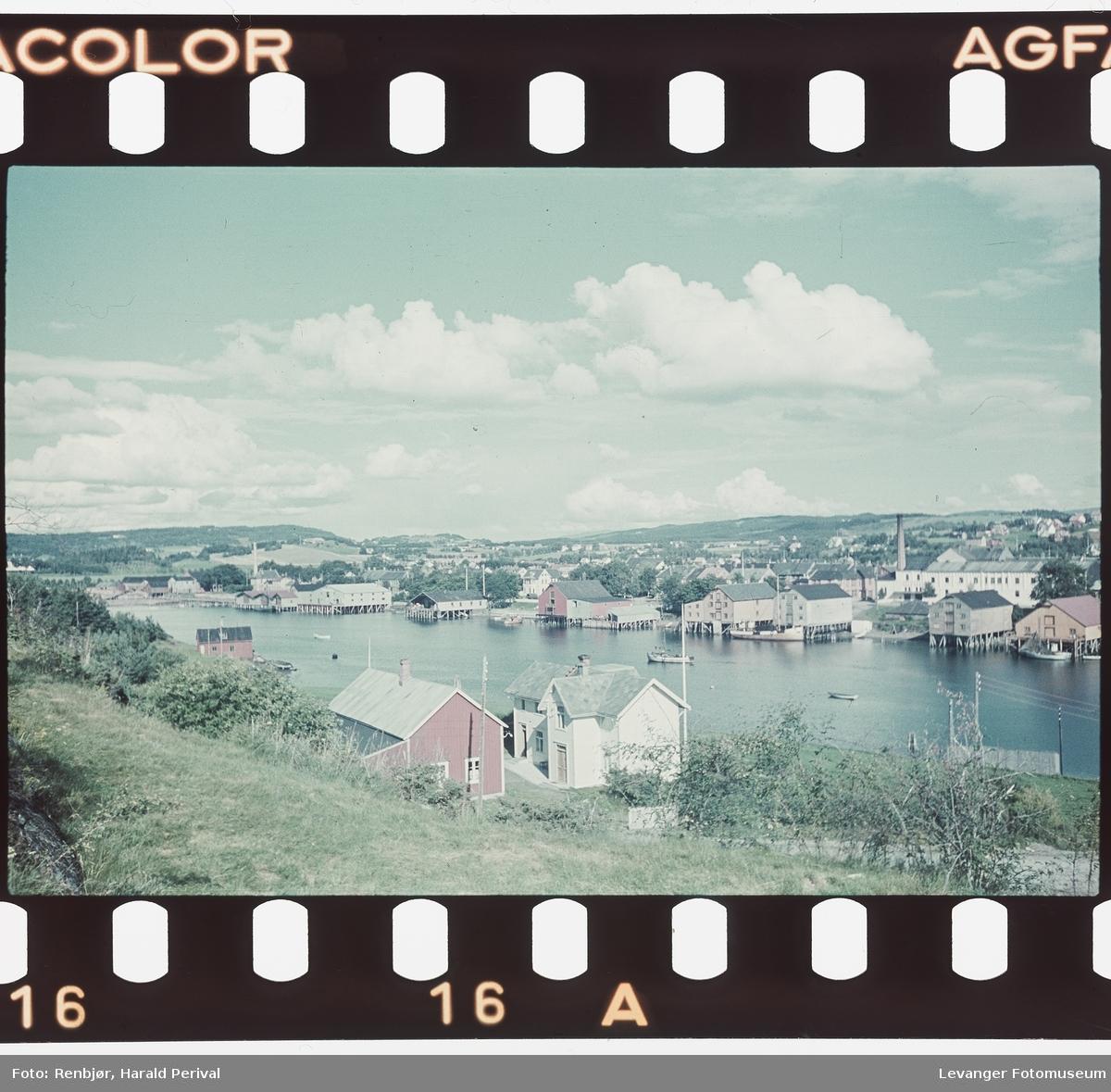 Utsikt over Levanger sentrum fra Nesset.