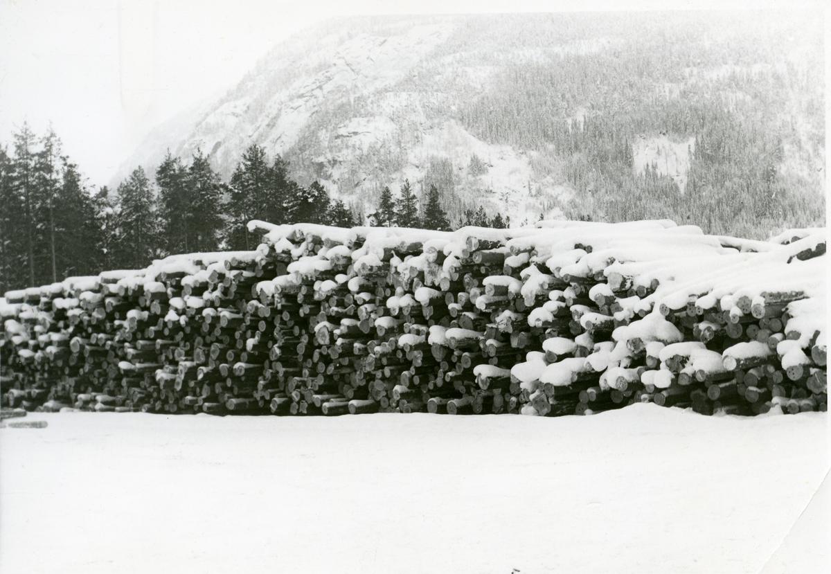 Tømmerlager, Begna bruk, Sør-Aurdal.