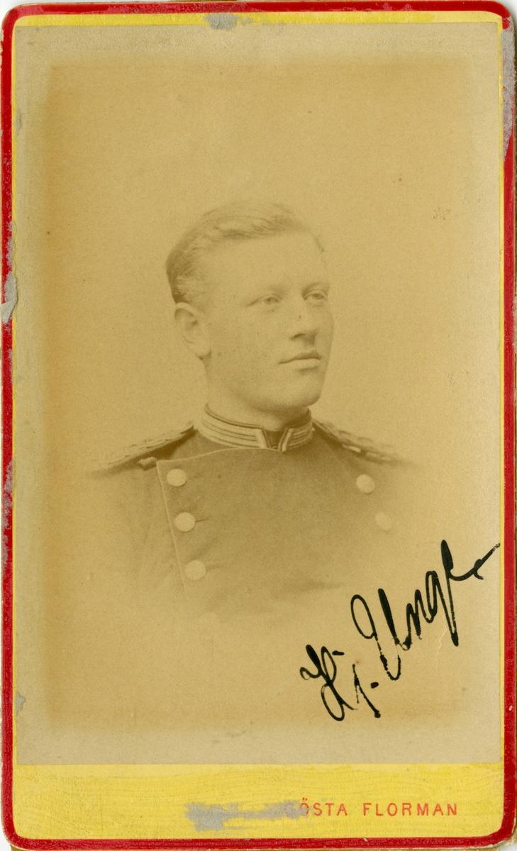Porträtt av Lars Hjalmar Unge, underlöjtnant vid Hälsinge regemente I 14.
