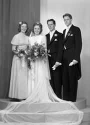 Brudparet Sven Jansson, Åsagatan 2, Gävle 5. 10 november 194