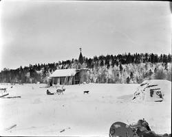 Beaivvásgieddi kapell, ca. 2 mil oppover fra Karasjok sentru