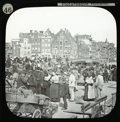 Amsterdam - the Vegetable Market. Bilden visar en ekonomisk
