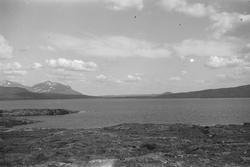 Sylsjøen og demningen unner arbeide