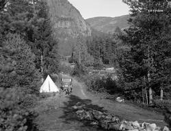 Fra familien Midttuns ferietur sommeren 1933.  Fotografiet e