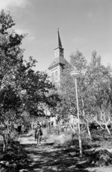 Utsjok Kirke. Utsjok-tur, Finland. Fotografert i august 1969