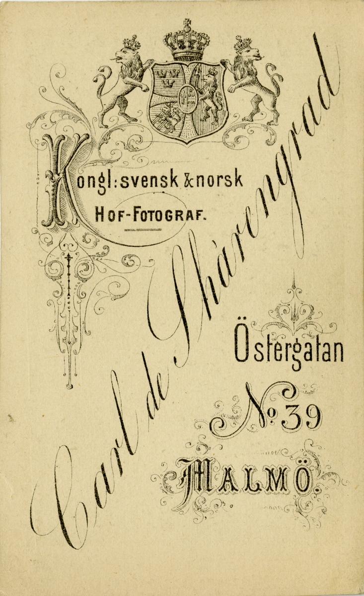 Porträtt av Fabian Wilhelm Rudolf Brunnström, kapten vid Norra skånska infanteriregementet I 24.