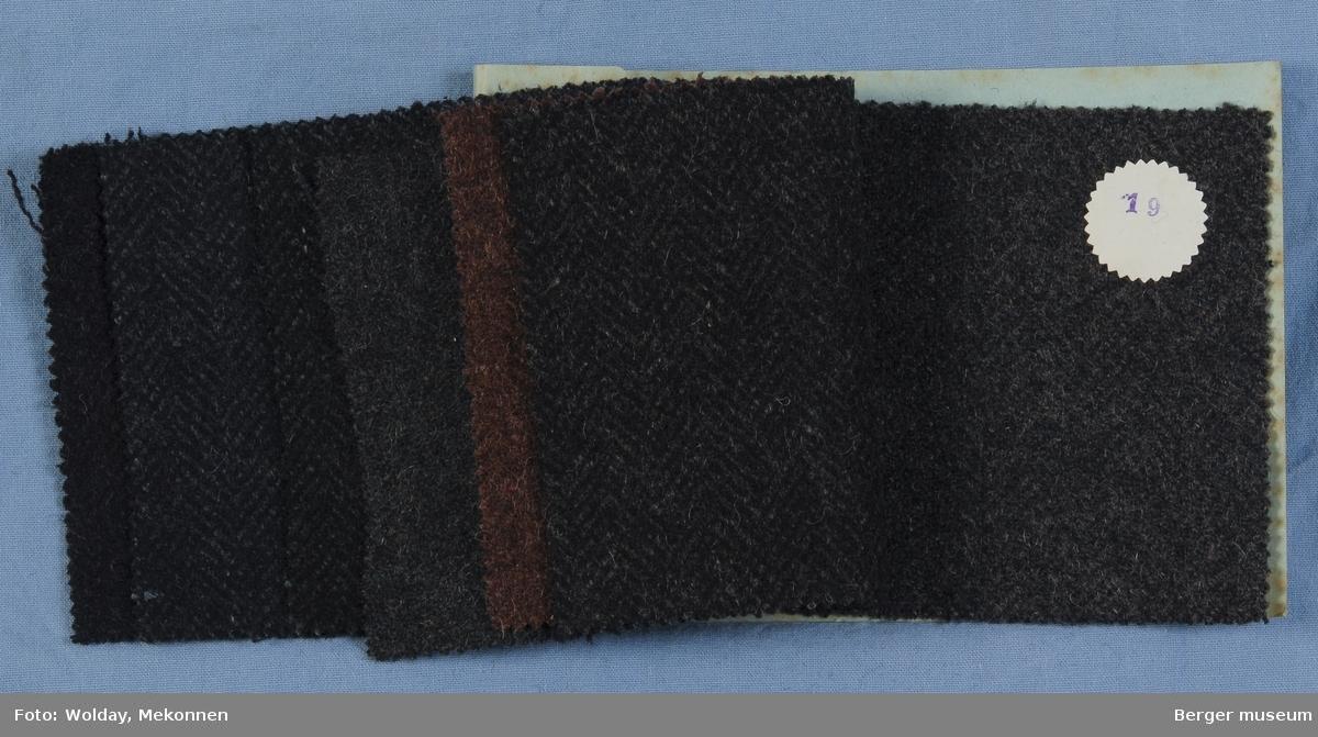 Prøvebok med 7 prøver Frakkestoff Melert Kvalitet 528