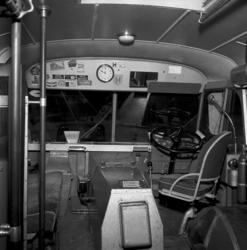 Interiörbilder från en buss 1952.