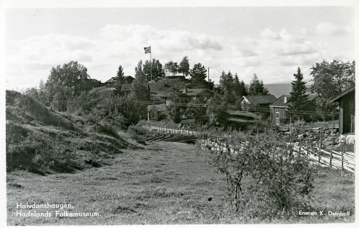 Postkort med motiv fra Hadeland Folkemuseum