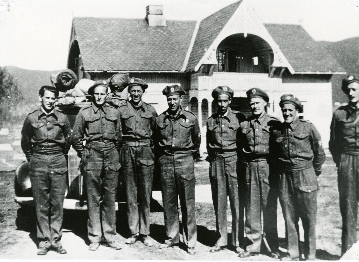 Hjemmefronten, HS-staben i Søre Thorsrud, mai 1945.