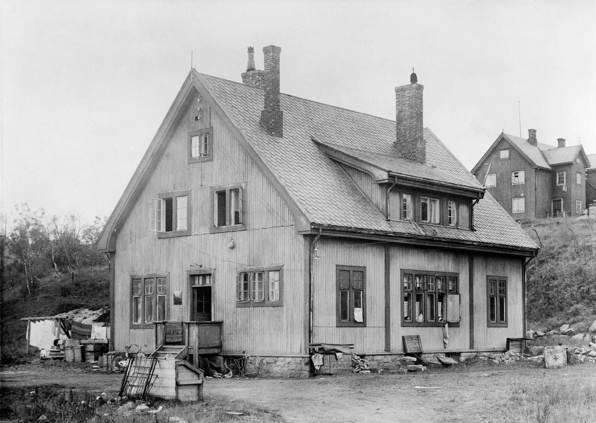 eksteriør, postkontor, Kirkenes 1944-46, Syd - Varanger laboratorium ble brukt som postkontor i tiden 1944-1946