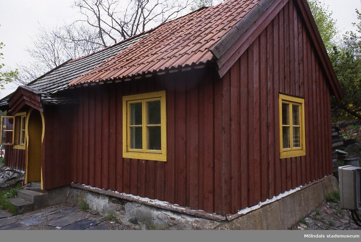 Roten M13 i Kvarnbyn, Mölndal, år 1986.