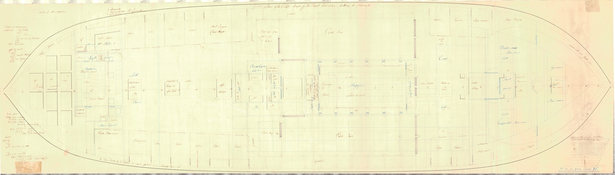Plan of the orlogs dep for the Royal Fredrich building at Portsmouth