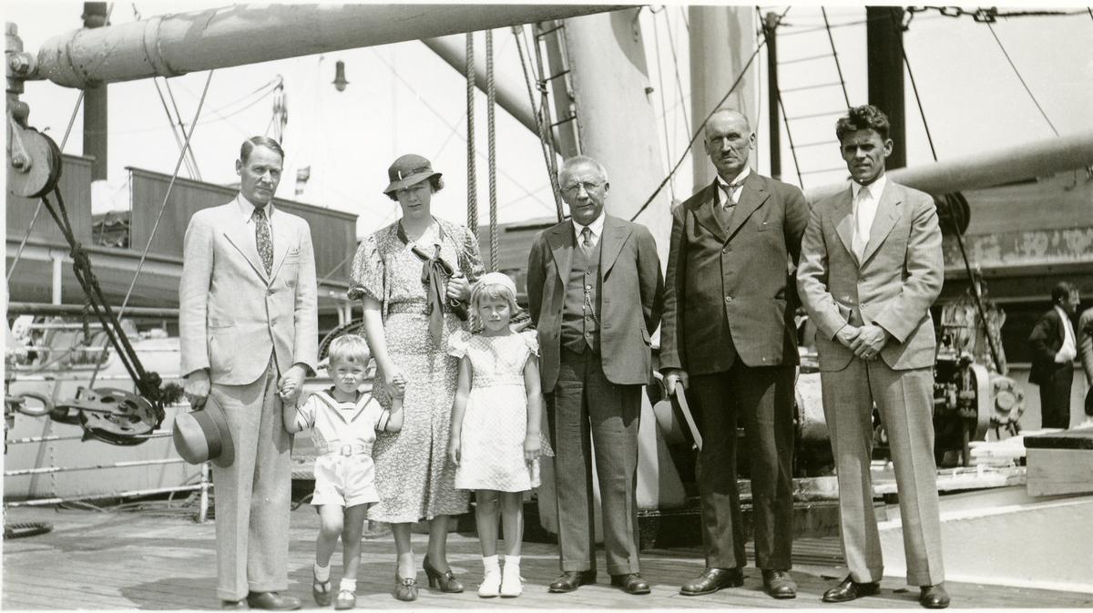 Olaus Islandsmoen på D/S Stavangerfjord, 1934.