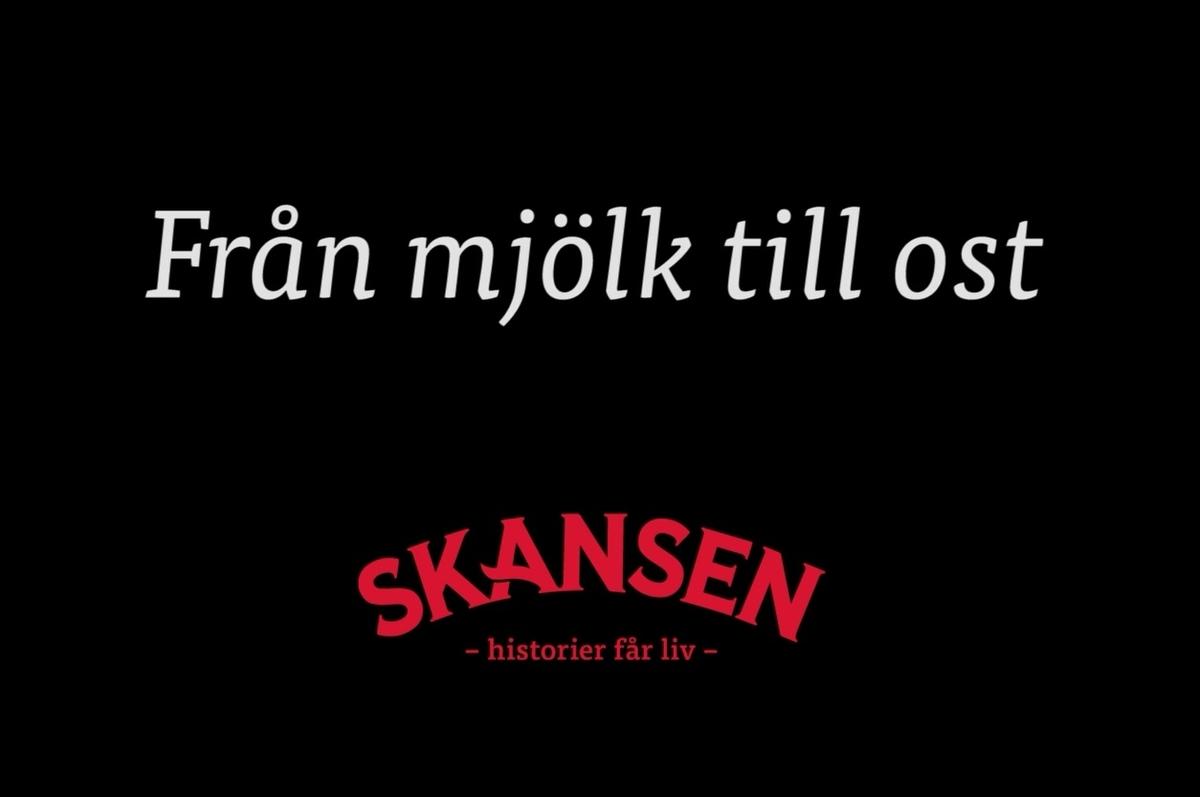 Tillverkning av ost, messmör, smör och kärnmjölk vid Skansens fäbod. På Skansen lever både historien och hantverket. Här finns världsunik expertis inom hantverk och slöjd.