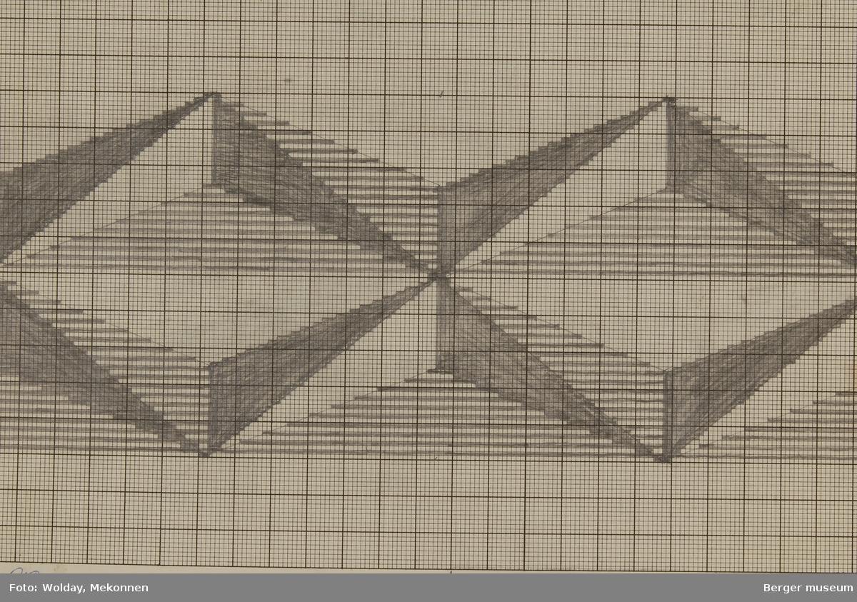 Diamant mønster (Til pledd)